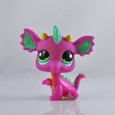 Littlest Pet Dragon Pink Child Girl Figure Toy Loose Cute LPS995
