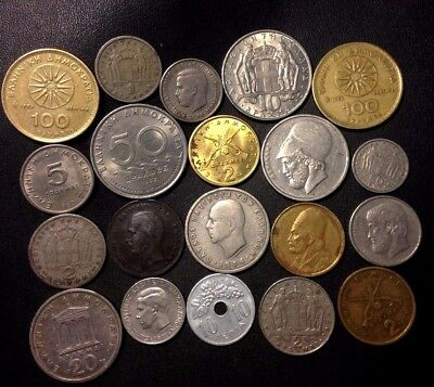 Old Greece Coin Lot - 1869-PreEuro - 20 Excellent Coins - Lot #918