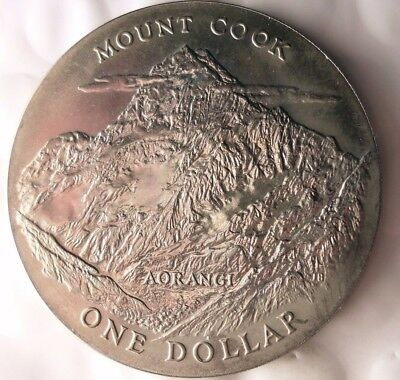1970 NEW ZEALAND DOLLAR - AU - COOK ISLAND - Collectible Silver Coin - LOT #918