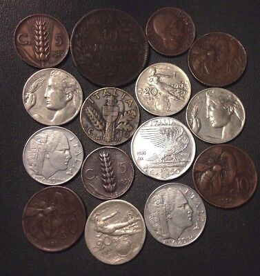 Old Italy Coin Lot - 1867-1941 - 15 EXCELLENT Collectible Coins - Lot #918