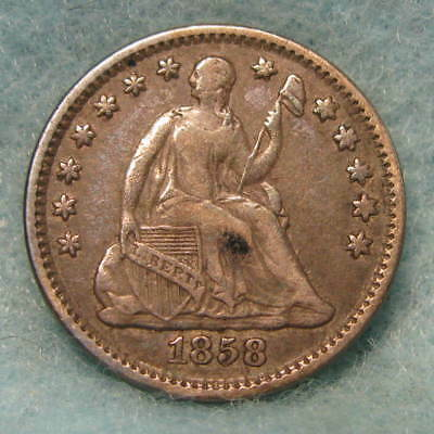 1858 Seated Liberty Silver Half Dime VF * Circulated US Coin *