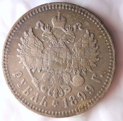 1899 RUSSIAN EMPIRE RUBLE - High Quality Silver - EXTREMELY RARE COIN - Lot #918