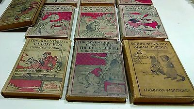 Lot of 10 Books Antique Vintage Thornton Burgess Bedtime Story 1920's Great Lot