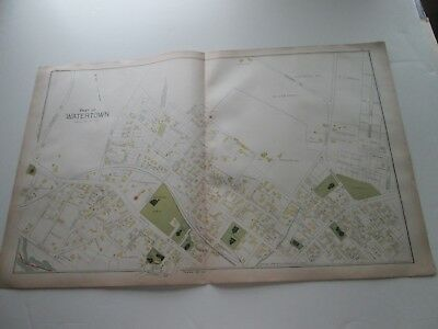 (1) One 1889 Antique Map-Massachusetts, Part Of Watertown--1;  G. Walker