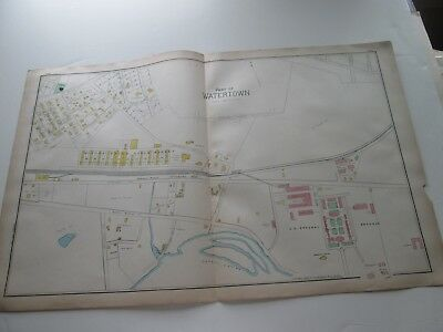 (1) One 1889 Antique Map-Massachusetts, Part Of Watertown--4;  G. Walker