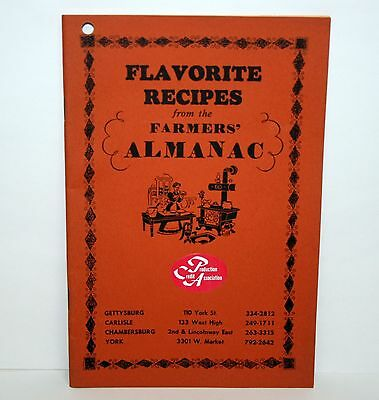 Vintage Antique Flavorite Recipes From The Farmers Almanac 1972 Cook Book Old