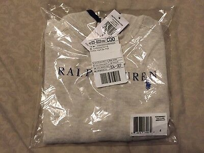 Ralph Lauren Toddler Boys Beige Zip Neck Sweater - Size 5T - NWT In Bag