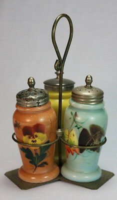Dana Alden Patented Caster Set with 3 Christmas Pearl Salt Shakers