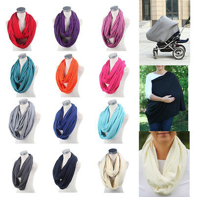 New Infinity Maternity Breastfeeding Nursing Scarf Baby Cover 12 Colors Shawl
