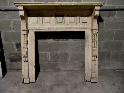 ~ Ornate  Antique Cherrywood  Fireplace Mantel ~ 50 X 48 ~ Architectural Salvage