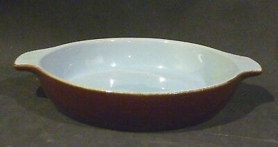 Denby BLUE & BROWN  small round oven dish/ Casserole/ PIE DISH15.3 cm diameter