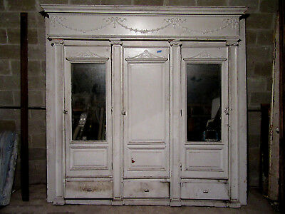 ~ Antique Carved Oak Closet Front ~ Built In Armoire ~ 102 X 98 ~ Salvage ~