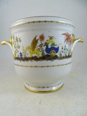 Antique LE TALLEC France France Wine Ice Bucket Pot Chinese Garden Limoges Vtg