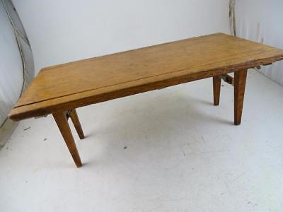 Antique Salesman Sample Patent Model Folding Table Wood 1910s Vintage Oak Old