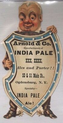 Arnold Brewery Ogdensburg NY Die Cut Trade Card 1
