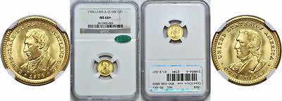 1904 Lewis and Clark $1 Gold Commemorative NGC MS-66+ CAC