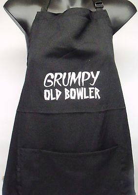"""""""Grumpy Old Bowler""""  Embroidered Apron with pocket"""