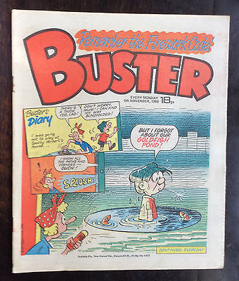 Buster Comic 5 November 1983 Vfn+. Unread/unsold Newsagents Stock. Excellent (1