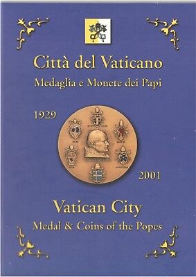 Vatican coin Set 2001 all Popes by Piux XI up Pope John Paul II