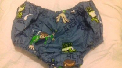 Adult baby waterproof Ben 10 blue cotton pants/nappy covers