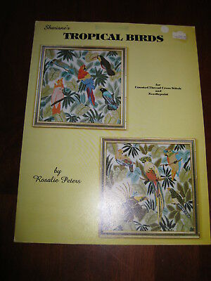 Shariane's Tropical Birds: By Rosalie Peters: 1980: Patterns: :Preloved