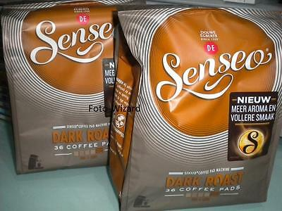 Senseo Douwe Egberts 72 Pods Strong Roast Pads 2 Packs Coffee