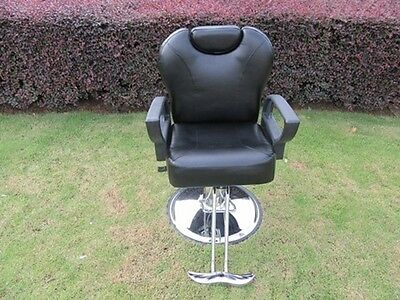 1X New Ajustable Black Barber Cutting Chair Stool Shampoo