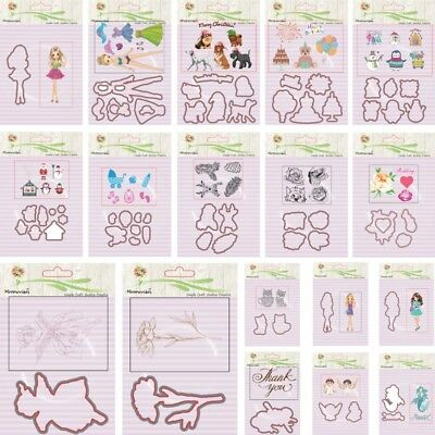 Silicone Clear Stamp+Metal Cutting Dies Stencil Frame For Scrapbook Album Decor