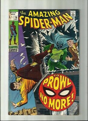 Amazing Spiderman 79 Dated Dec. 1969. Very Good Condition. Prowler. Pence Copy.