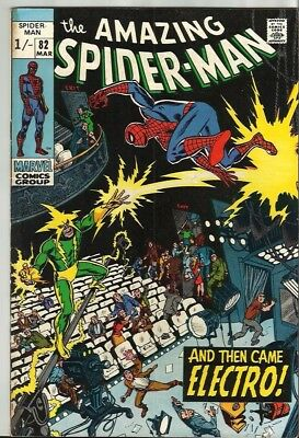 Amazing Spiderman 82 Dated March 1970 Very Good Condition. Electro. Pence Copy.