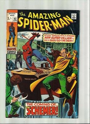 Amazing Spiderman 83 Dated April 1970 Very Good Condition. Schemer. Pence Copy.