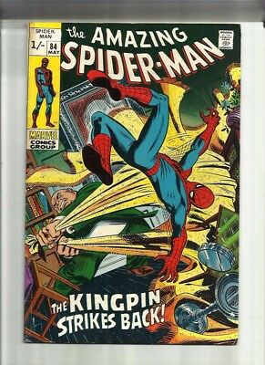 Amazing Spiderman 84 Dated May 1970 Very Good Condition. Kingpin. Pence Copy.