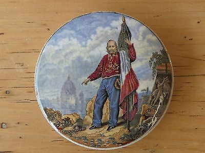 Antique Victorian Prattware Pot Lid Garibaldi No169