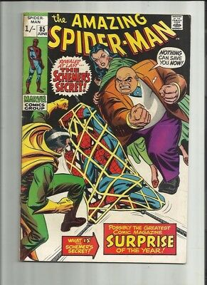 Amazing Spiderman 85 Dated June 1970 Very Good Condition. Kingpin. Pence Copy.