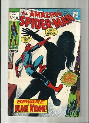 Amazing Spiderman 86 Dated July 1970 Very Good Condition. Black Widow Pence Copy