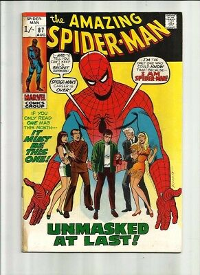 Amazing Spiderman 87 Dated Aug. 1970 Very Good Condition. Pence Copy