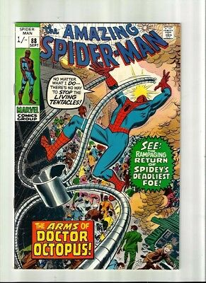 Amazing Spiderman 88 Dated Sept. 1970 Very Good Condition. Doc Ock. Pence Copy