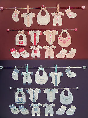 MINIATURE BABY CLOTHES *BOY or GIRL* CARD MAKING & SCRAPBOOKING EMBELLISHMENTS