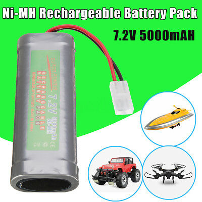 2/4Pcs 7.2V 5000mAH Ni-MH Rechargeable Battery Pack For RC Toy Car/Boat/Airplane