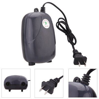 Efficient Aquarium Oxygen Fountain Pond Fish Air Pump Tank Energy Super Silent