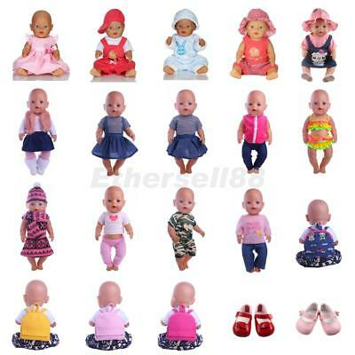 Pretty Clothing Set Schoolbag Shoes Fit for 17inch 43/45cm Zapf Baby Born Dolls