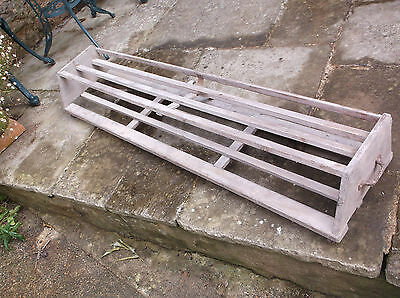 Vintage Pine Library book trolley/stand on castors