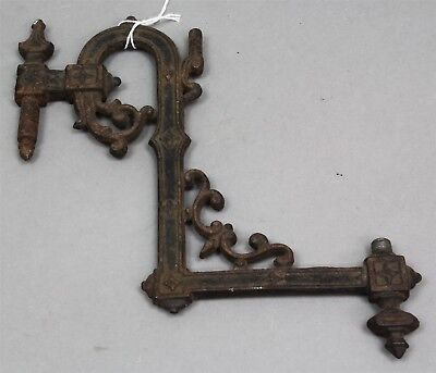 Antique CAST IRON WALL SCONCE BRACKET FOR OIL LAMP Ornate Decorative