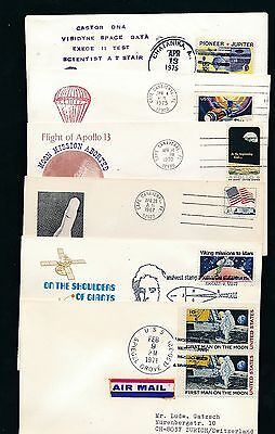 83524) Weltraum Raketen space, 12 cards/covers... 1970 - 79, viel / many USA