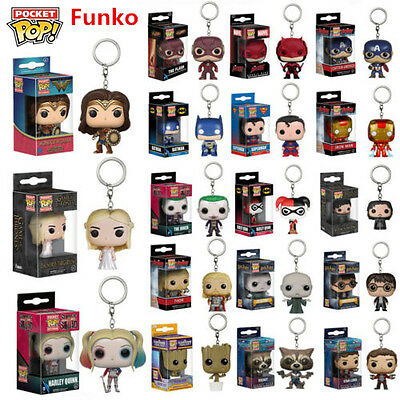 Funko Pocket Pop! Figure Keyring Keychain Groot, Batman, Hearly Queen Vinyl Toys