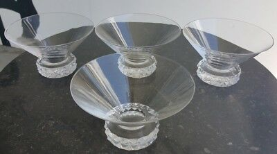 SAINT LOUIS Service 4 COUPES a CHAMPAGNE Modele DIAMANT Cristal Coupe Crystal