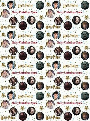 Harry Potter Personalised Christmas Wrapping Paper ADD NAME CHOOSE BACKGROUND