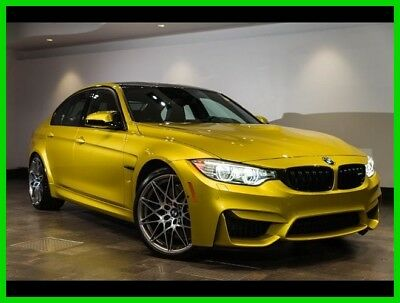 2017 BMW M3 Base Sedan 4-Door AUSTIN YELLOW PERFORMANCE DRIVER ASSISTANCE EXECUTIVE AND  LIGHTING PACKAGES!!!!