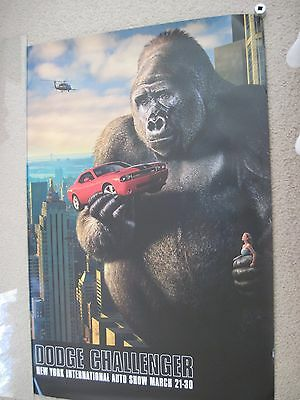 King Kong Dodge Challenger Movie Poster / NY Auto Show 24x36 UNIQUE RARE NEW