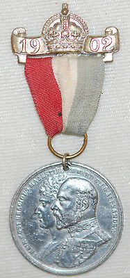 1902 Commemorative Medal EDWARD VII & ALEXANDRIA (Urban District of Birkdale)